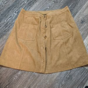 Abercrombie & Fitch Faux Suede Skirt